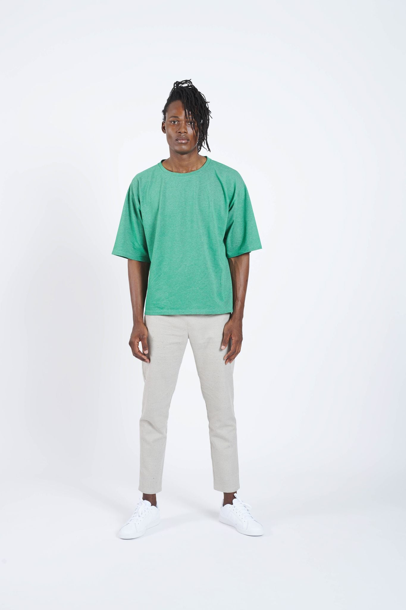 Air Bag Classic Loose Cut T-Shirt - Mineral Green