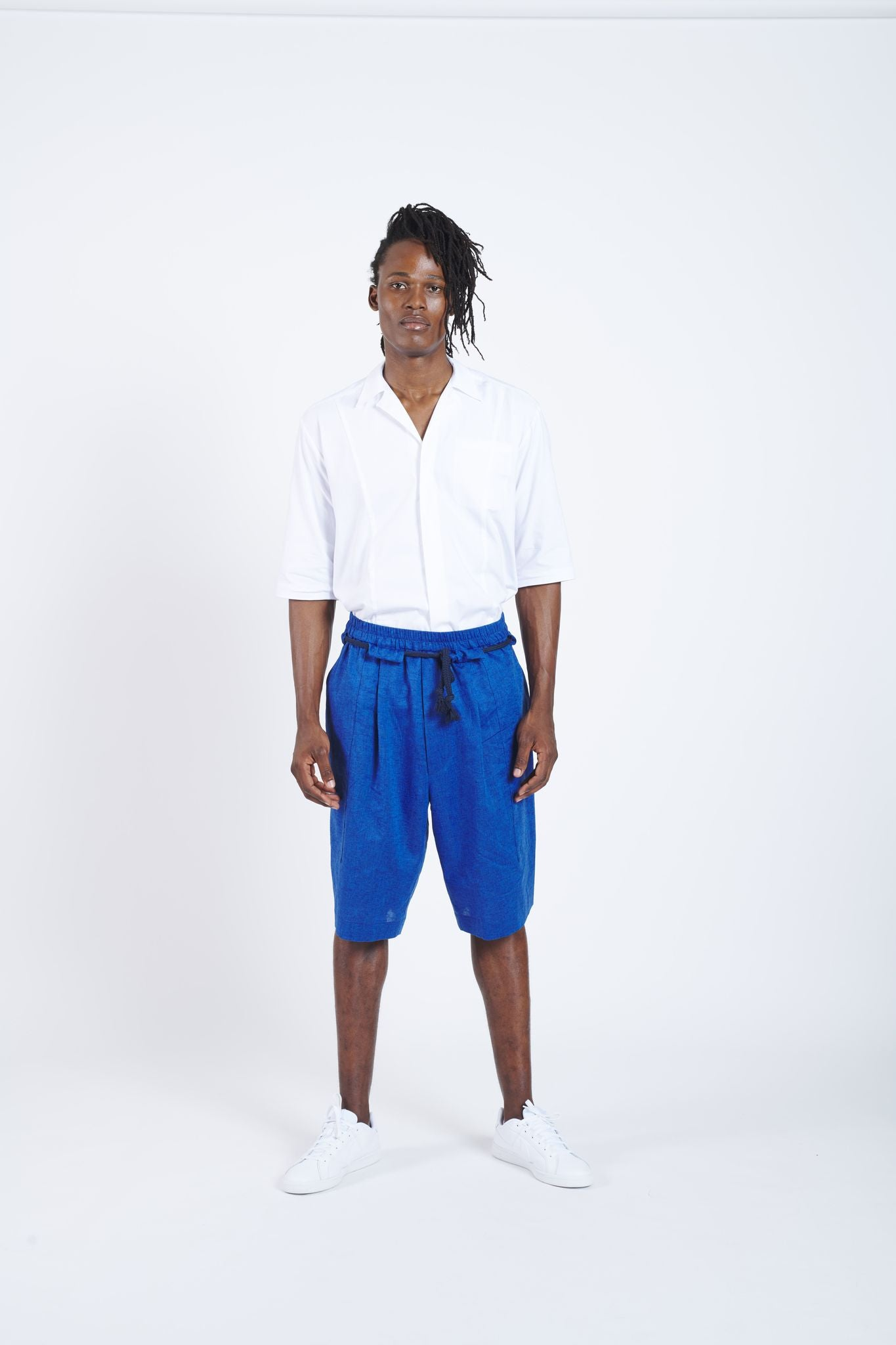 Cruise Control Short Easy Waist Pants - Blue