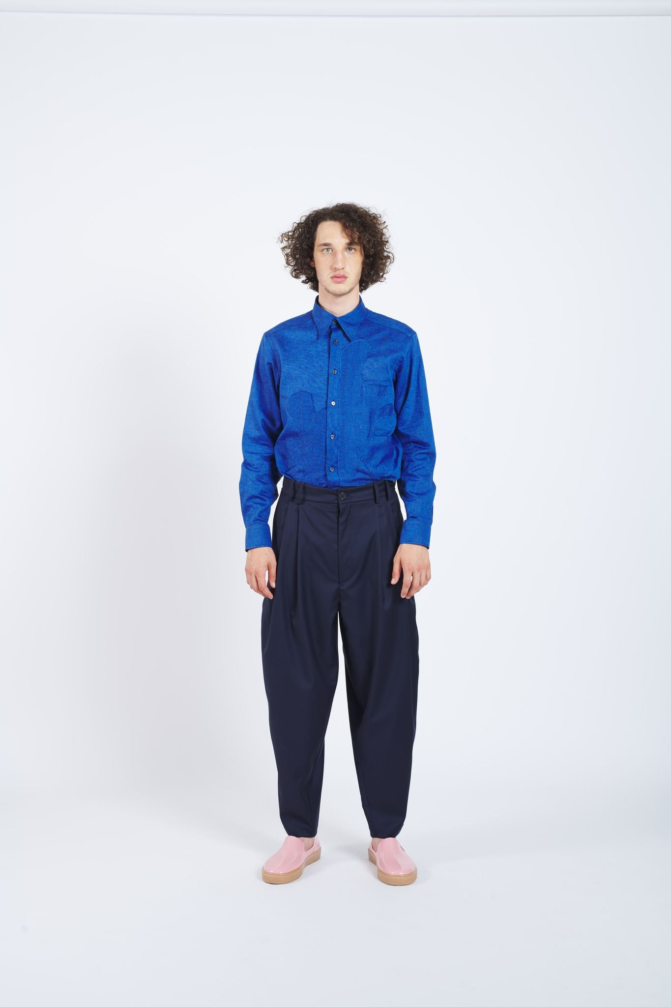 Overdrive Loose Fit Trousers - Navy