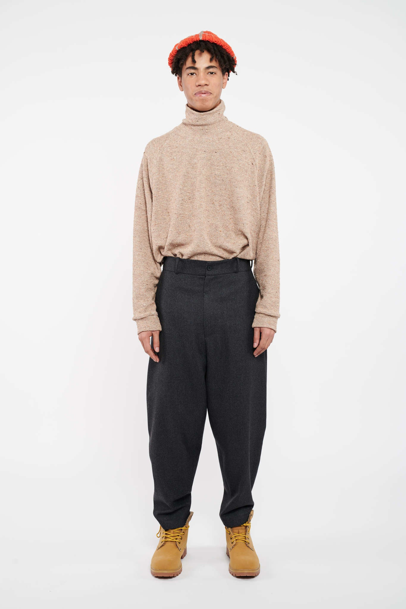 Entrepreneur Wide Pants - Tar Grey