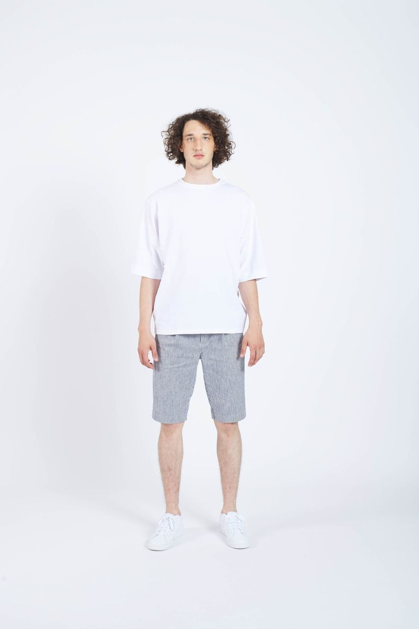 Rear Mirror Drop Shoulder T-shirt - White