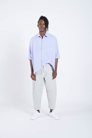 Spoiler Xloose shirt - Blue With Pink Stripes
