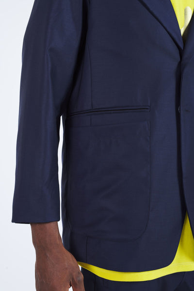 Wheelbase Drop Shoulder Blazer - Navy