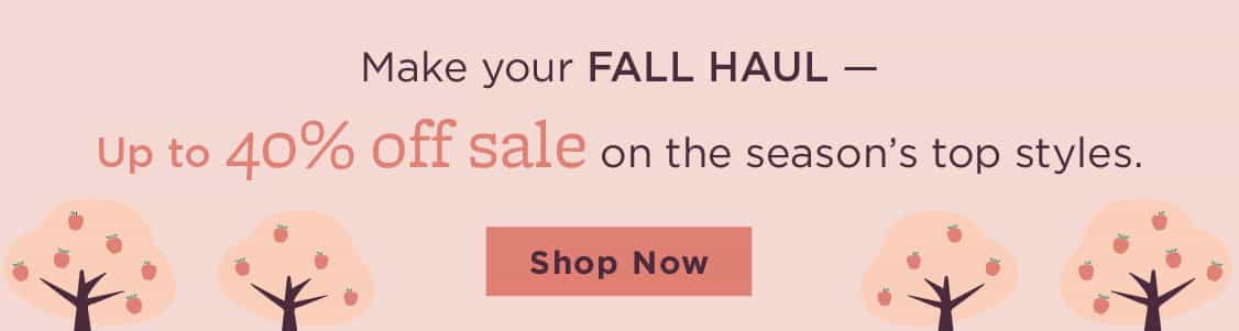 Fall Sale banner