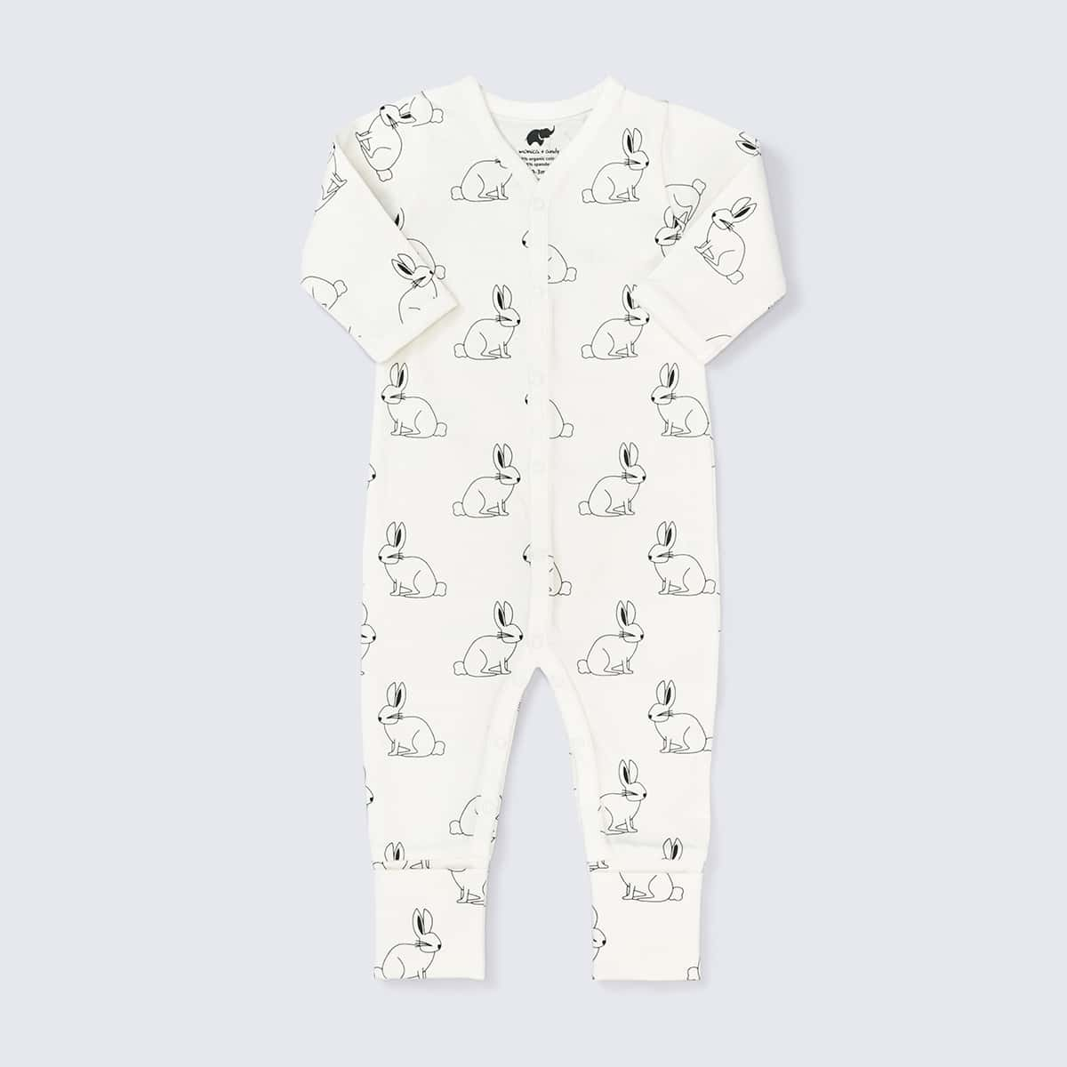 On the Go One-Piece in Bunny Love print