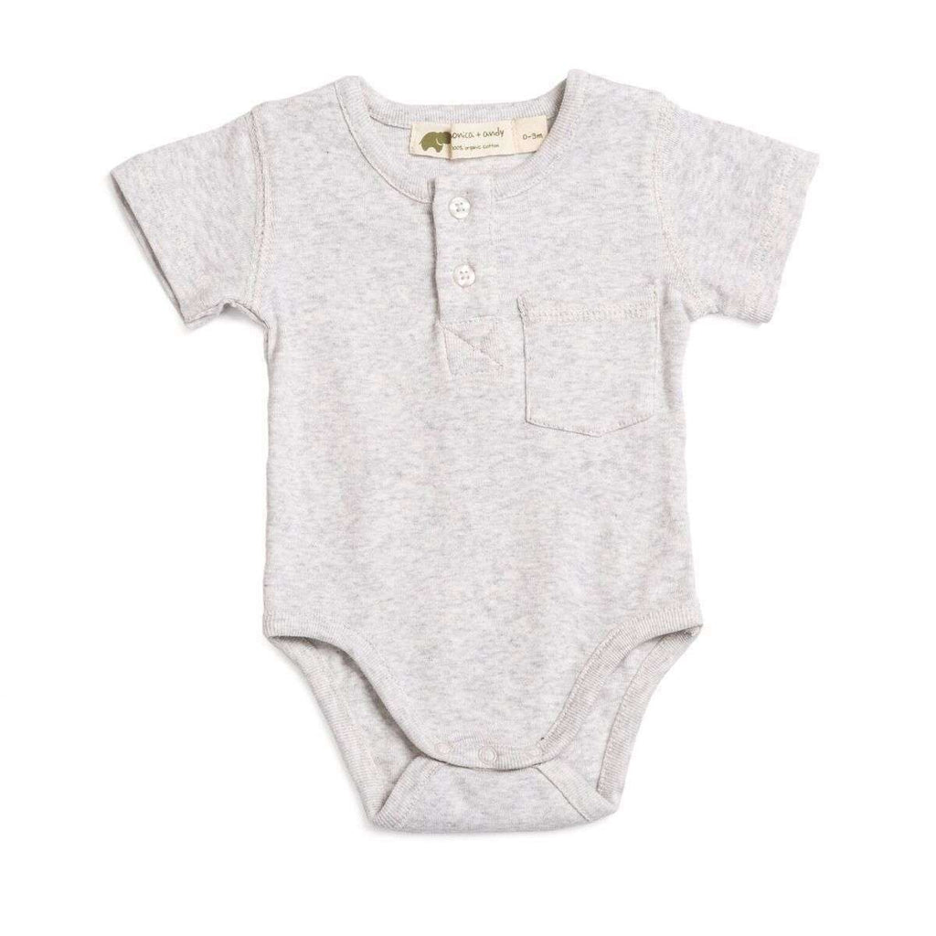 Short Sleeve Henley Bodysuit