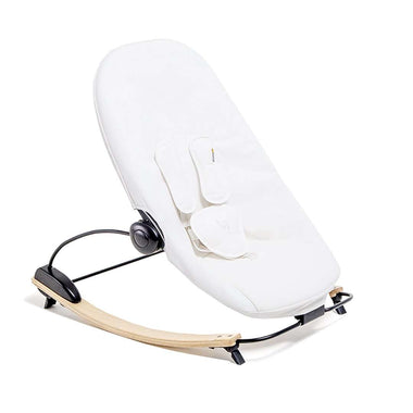 bloom coco go 3-in-1 bouncer in natural wood