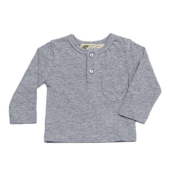 Long Sleeve Henley Pocket Tee