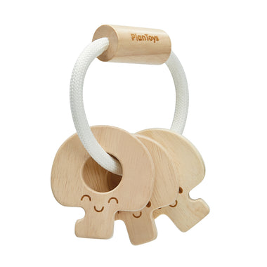 PlanToys Baby Key Rattle Natural