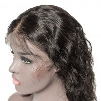 "10-14Inch Pre-Plucked 13""x6"" Front Lace Queen Wig Natural Wavy 150% Density"