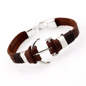 Genuine Leather Anchor Bracelet by AoSA