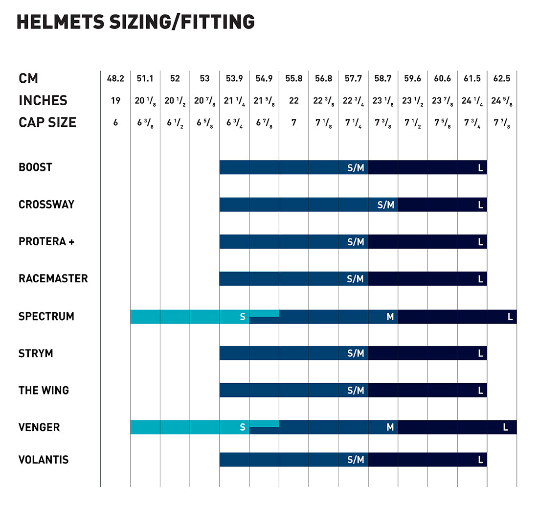 Rudy Project Helmet Sizes