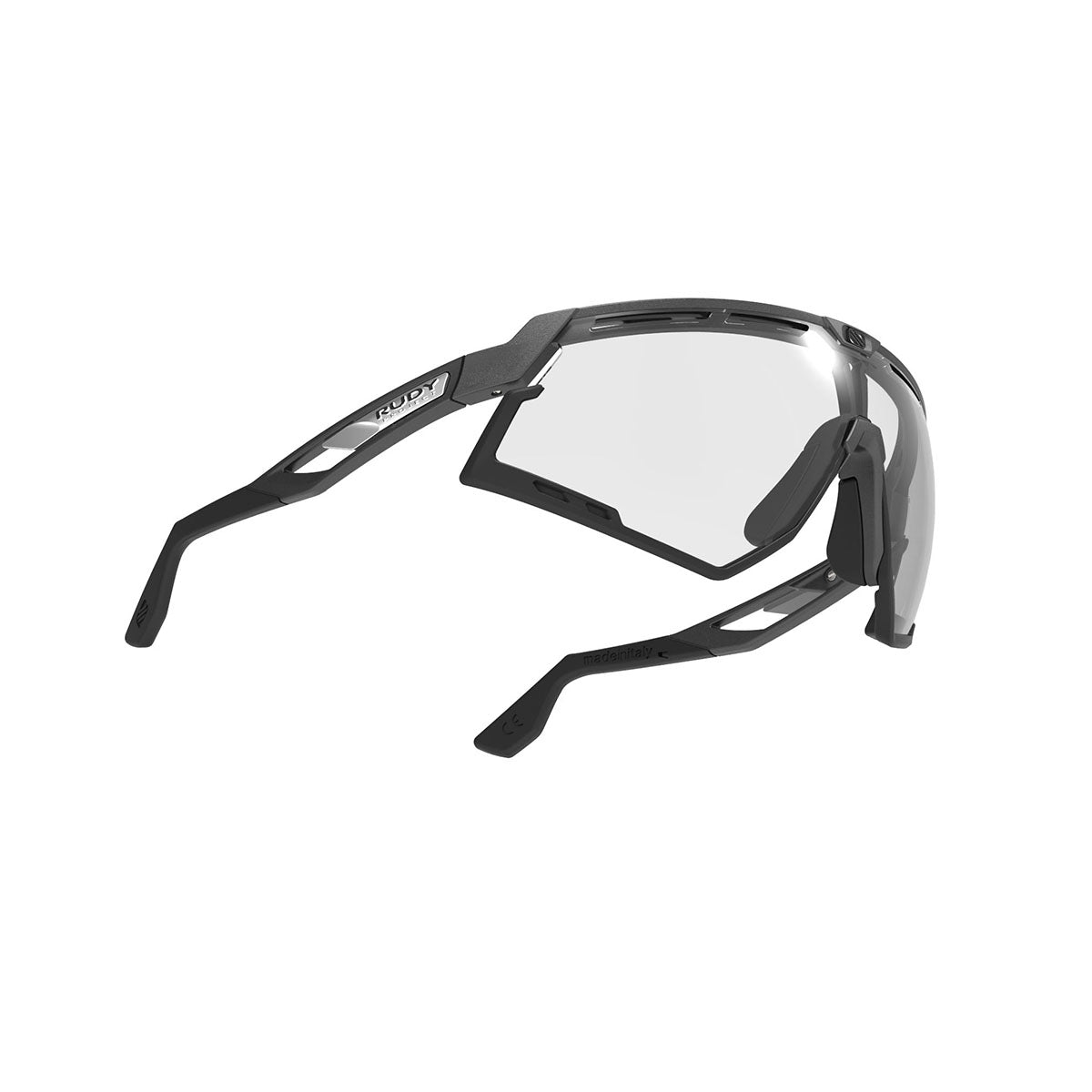 Rudy Project - Defender - frame color: Pyombo Matte - lens color: ImpactX-2 Photochromic Clear to Black - Bumper Color: Black - photo angle: Bottom Front Angle Variant Hover Image
