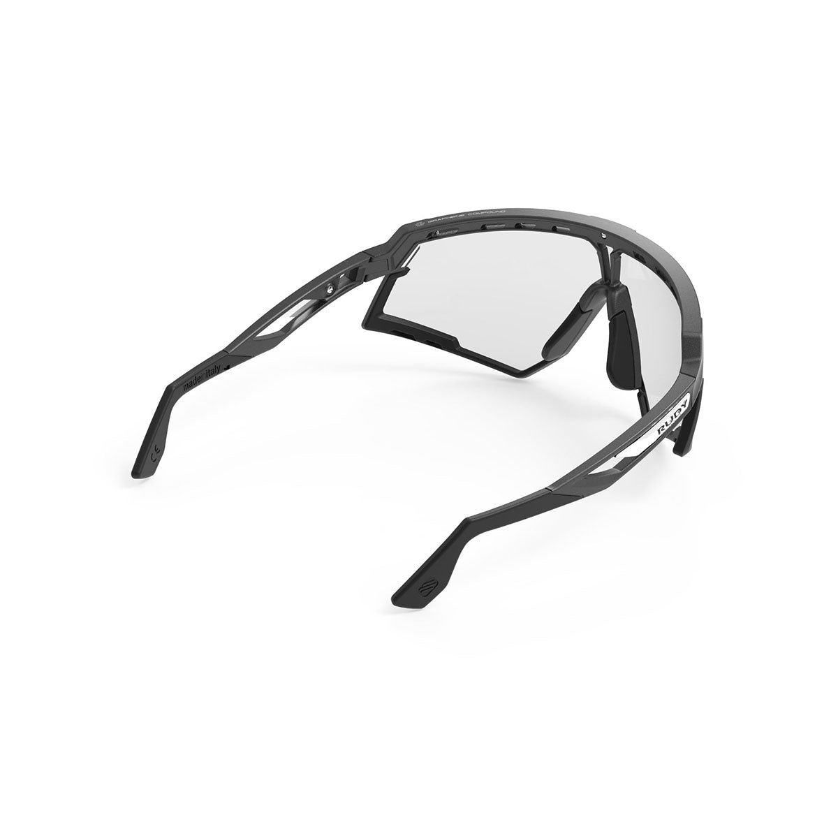 Rudy Project - Defender - frame color: Pyombo Matte - lens color: ImpactX-2 Photochromic Clear to Black - Bumper Color: Black - photo angle: Top Back Angle Variant Hover Image