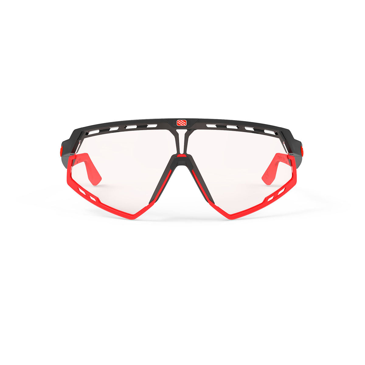 Rudy Project - Defender - frame color: Matte Black - lens color: ImpactX-2 Photochromic Clear to Red - Bumper Color: Red - photo angle: Front View Variant Hover Image