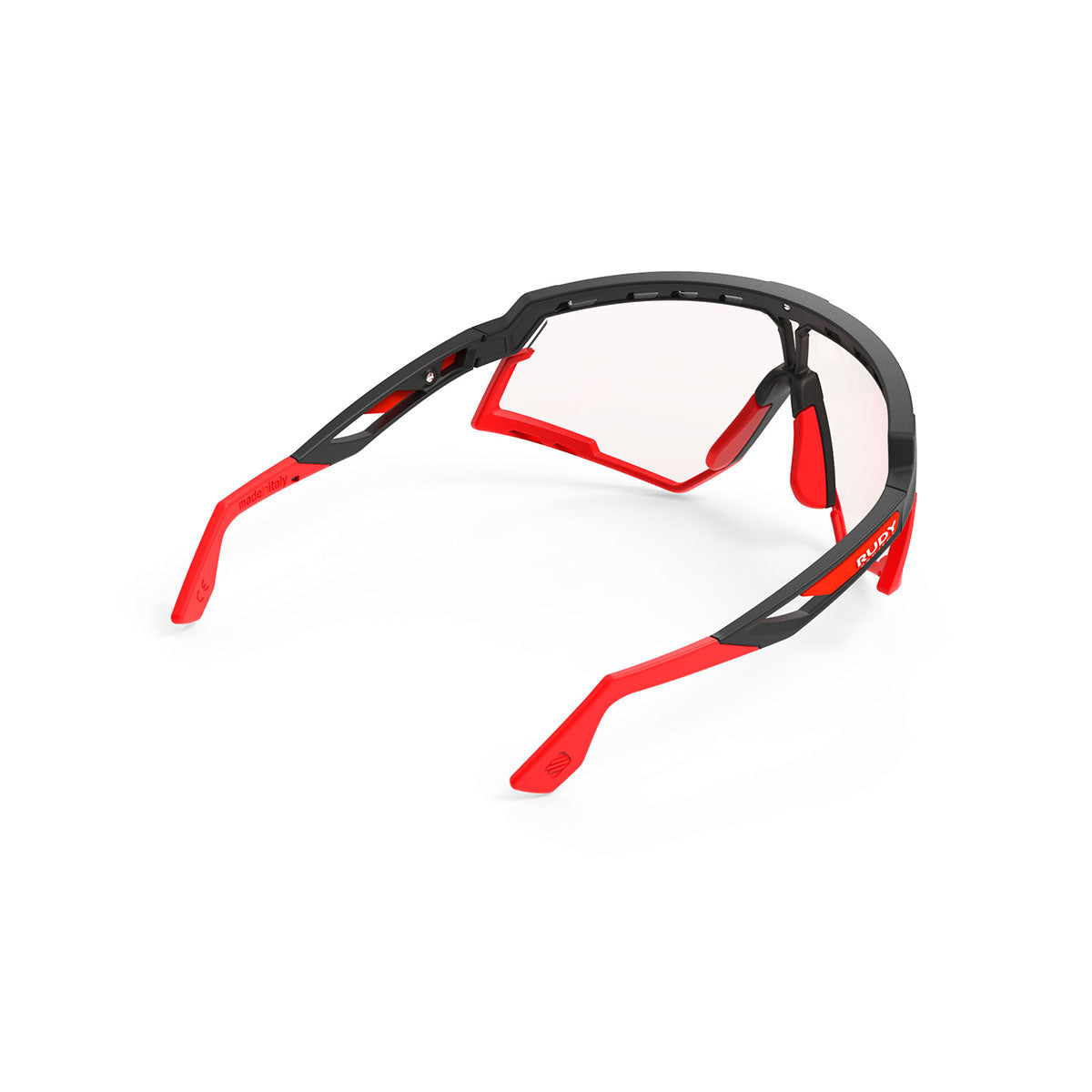 Rudy Project - Defender - frame color: Matte Black - lens color: ImpactX-2 Photochromic Clear to Red - Bumper Color: Red - photo angle: Top Back Angle Variant Hover Image
