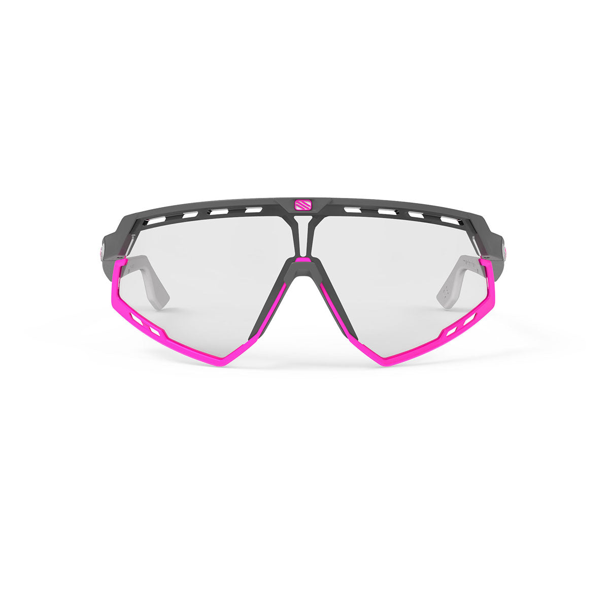 Rudy Project - Defender - frame color: Pyombo Matte - lens color: ImpactX-2 Photochromic Clear to Black - Bumper Color: Fuxia - photo angle: Front View Variant Hover Image
