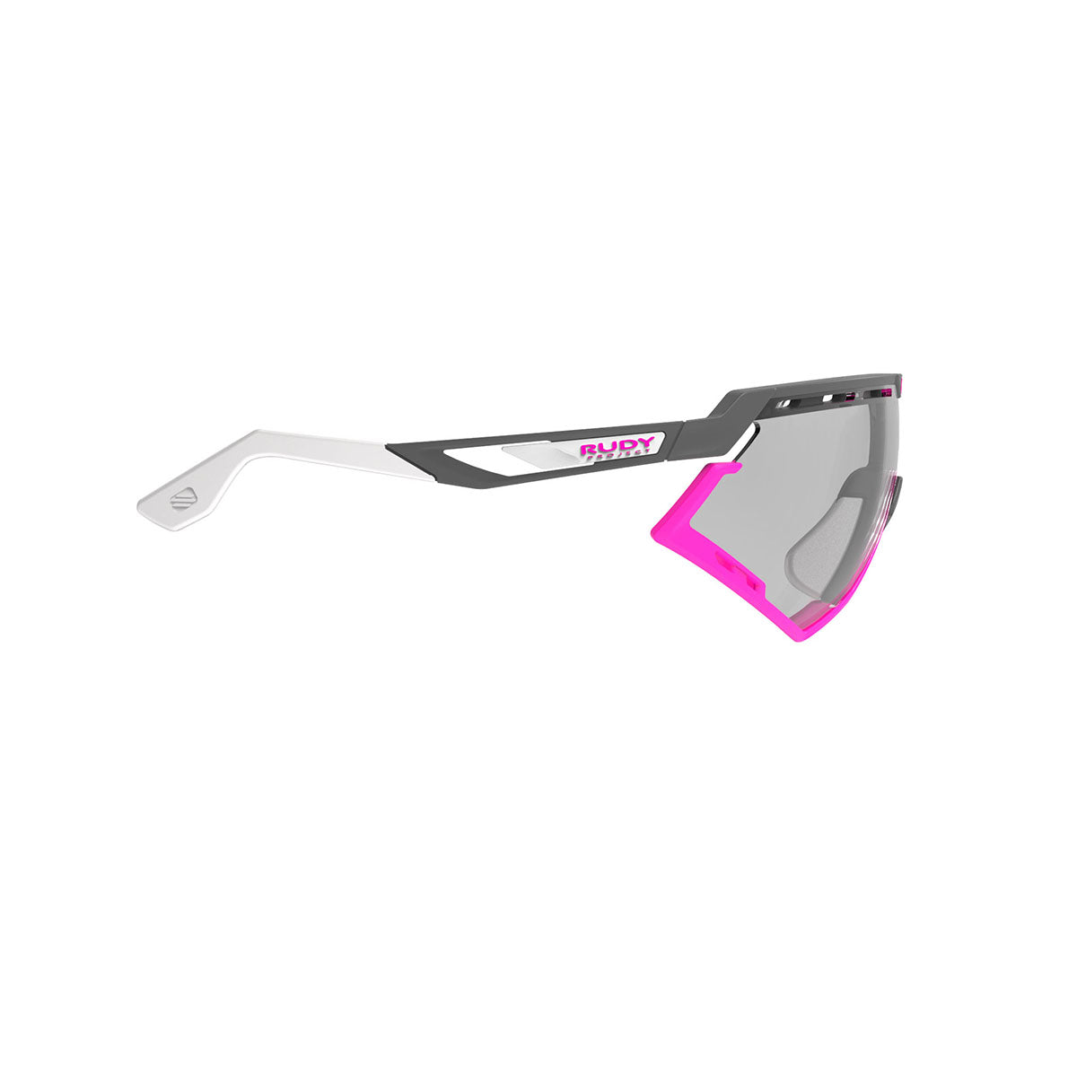 Rudy Project - Defender - frame color: Pyombo Matte - lens color: ImpactX-2 Photochromic Clear to Black - Bumper Color: Fuxia - photo angle: Side Variant Hover Image