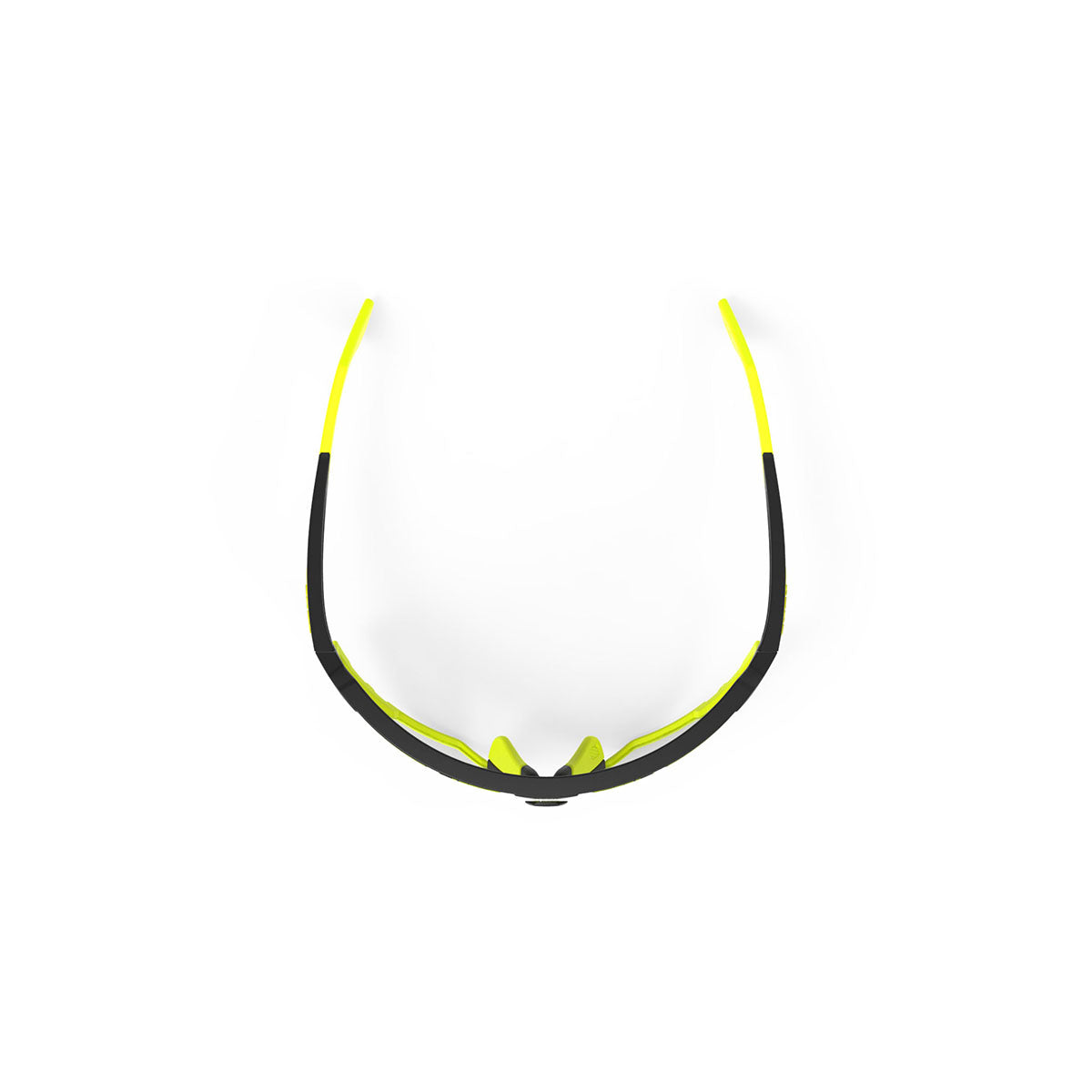 Rudy Project - Defender - frame color: Matte Black - lens color: ImpactX-2 Photochromic Clear to Laser Black - Bumper Color: Yelow Fluo - photo angle: Top Variant Hover Image