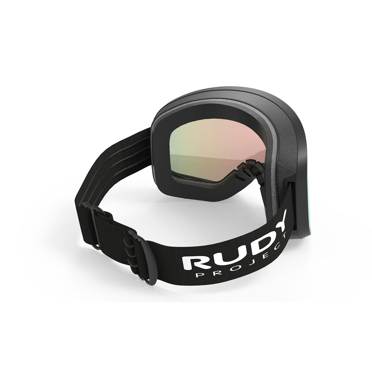 Rudy Project - Skermo - frame color: Black Matte - lens color: Multilaser Orange - Light Transmission: 22 Percent - photo angle: Top Back Angle Variant Hover Image