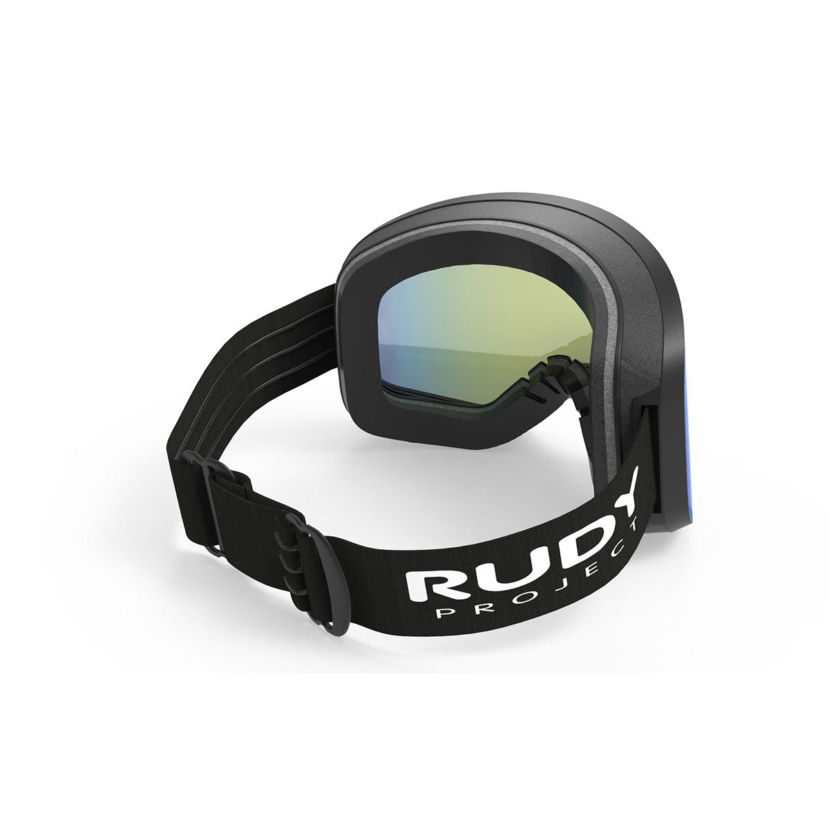 Rudy Project - Skermo - frame color: Black Matte - lens color: Multilaser Lime - Light Transmission: 11 Percent - photo angle: Top Back Angle Variant Hover Image