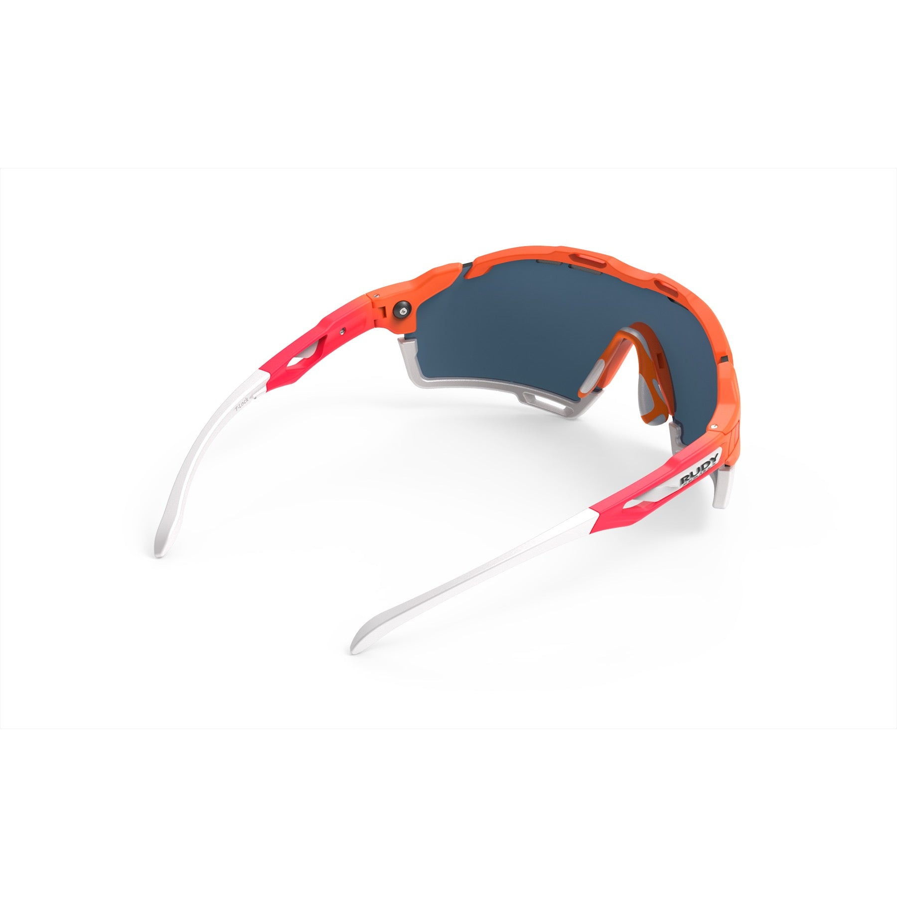 Rudy Project - Cutline - frame color: Mandarin Fade Coral - lens color: Multilaser Red - Bumper Color: White - photo angle: Top Back Angle Variant Hover Image