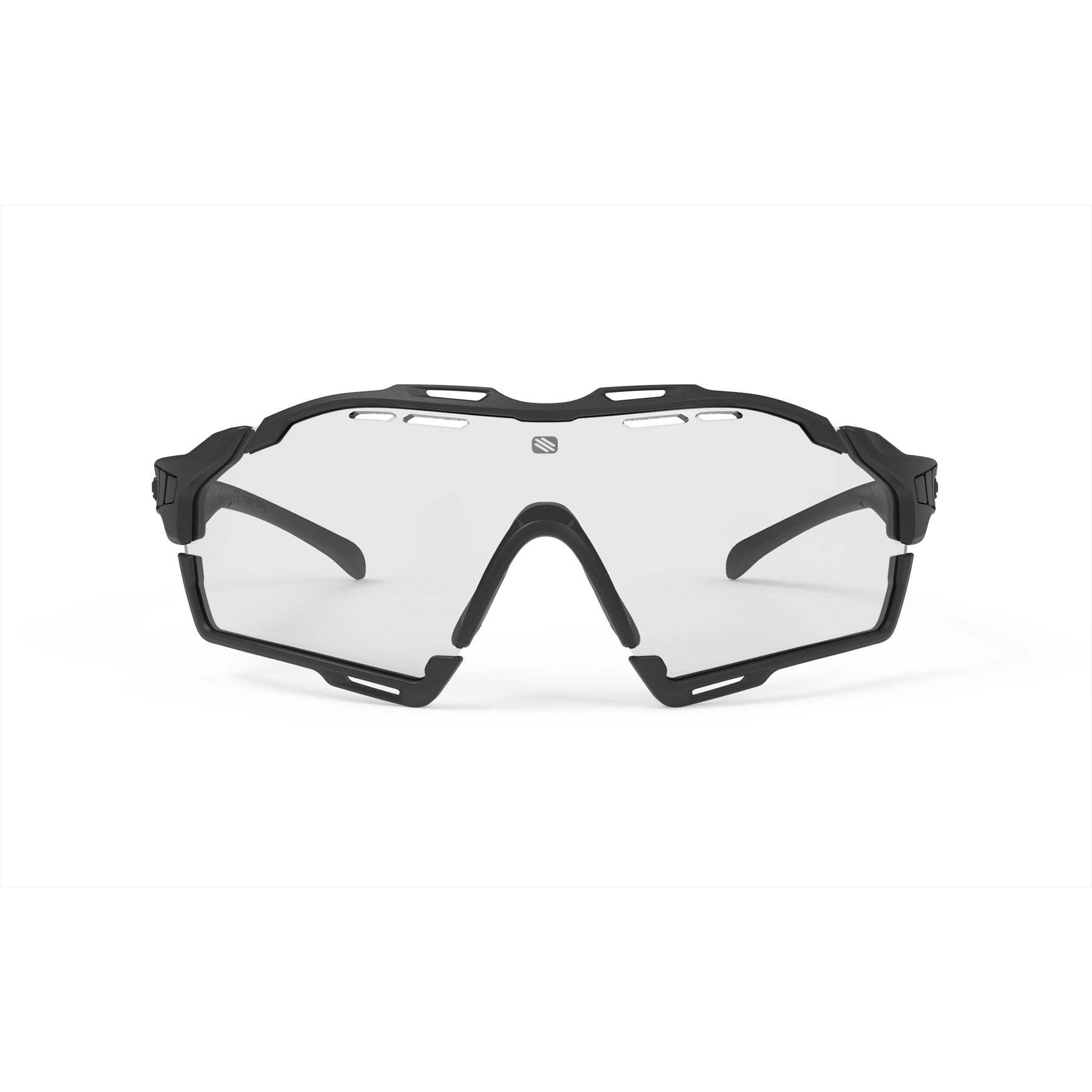 Rudy Project - Cutline - frame color: Matte Black - lens color: ImpactX-2 Photochromic Clear to Black - Bumper Color: Black - photo angle: Front View Variant Hover Image
