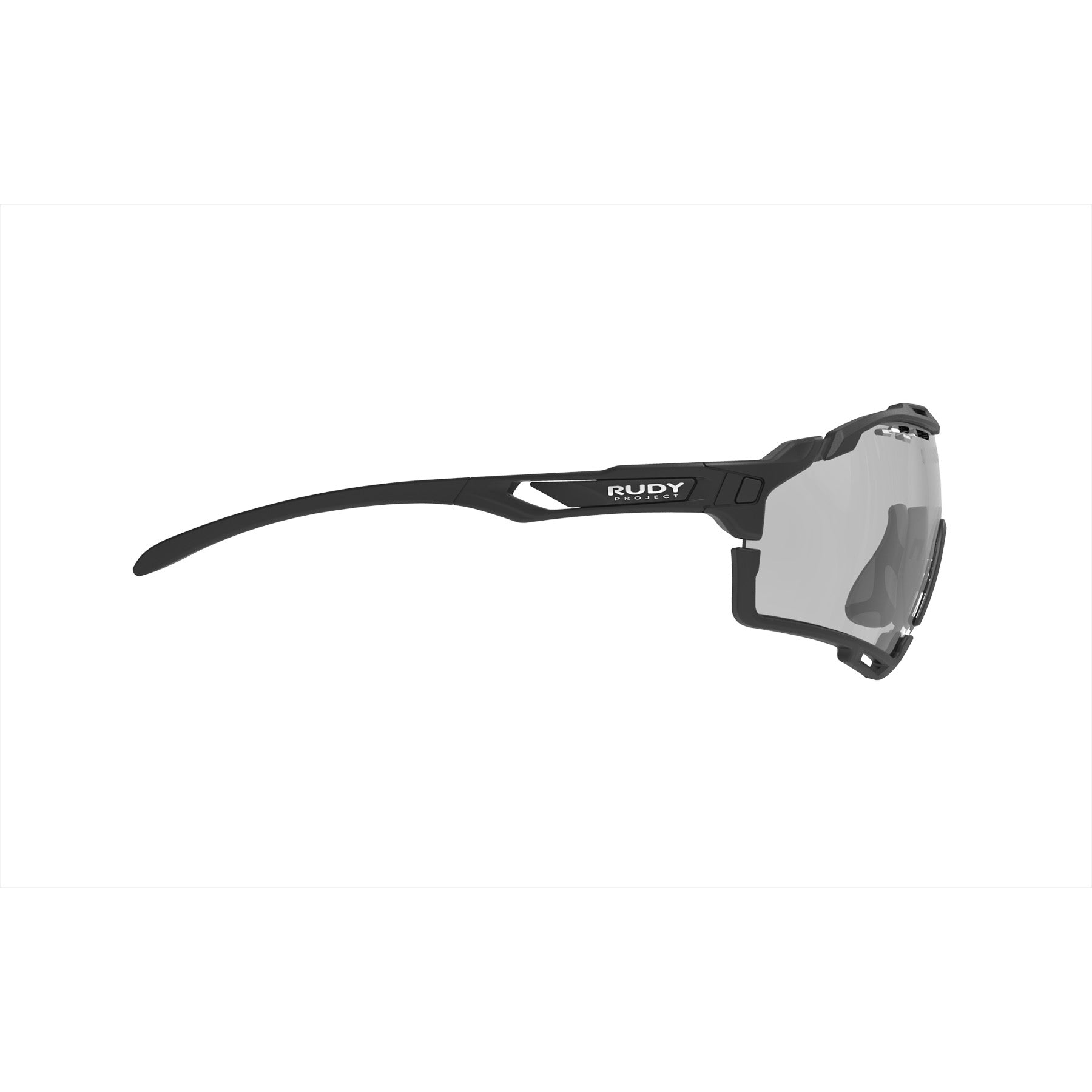 Rudy Project - Cutline - frame color: Matte Black - lens color: ImpactX-2 Photochromic Clear to Black - Bumper Color: Black - photo angle: Side Variant Hover Image