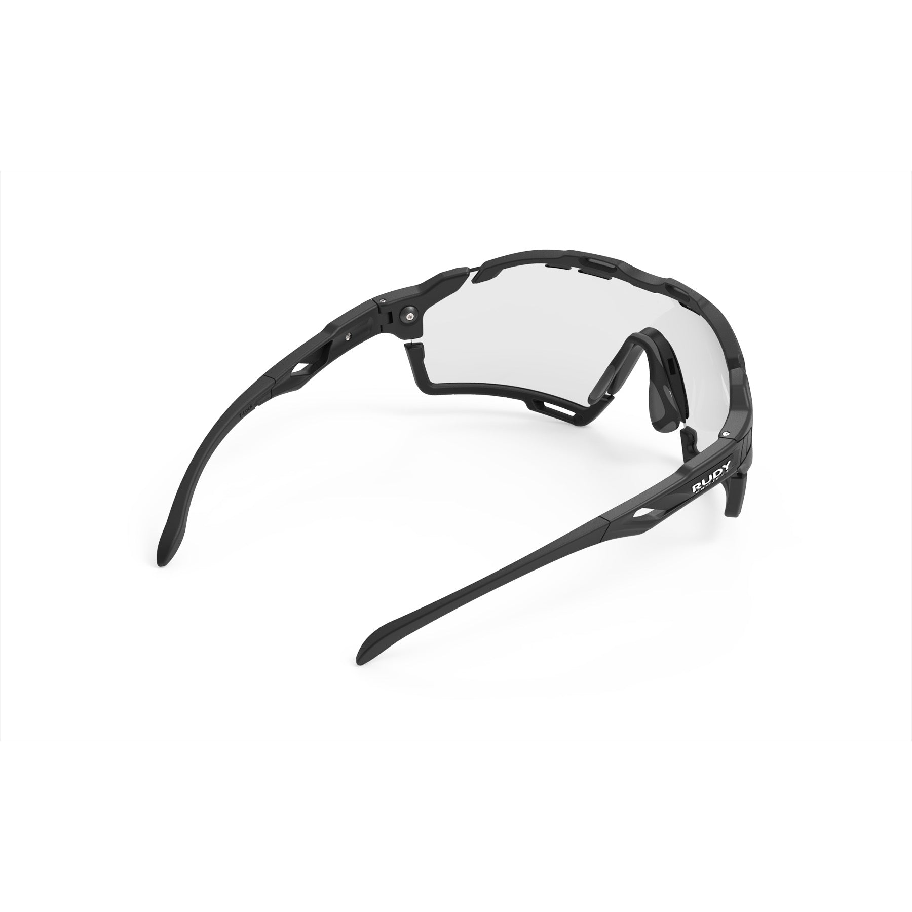 Rudy Project - Cutline - frame color: Matte Black - lens color: ImpactX-2 Photochromic Clear to Black - Bumper Color: Black - photo angle: Top Back Angle Variant Hover Image