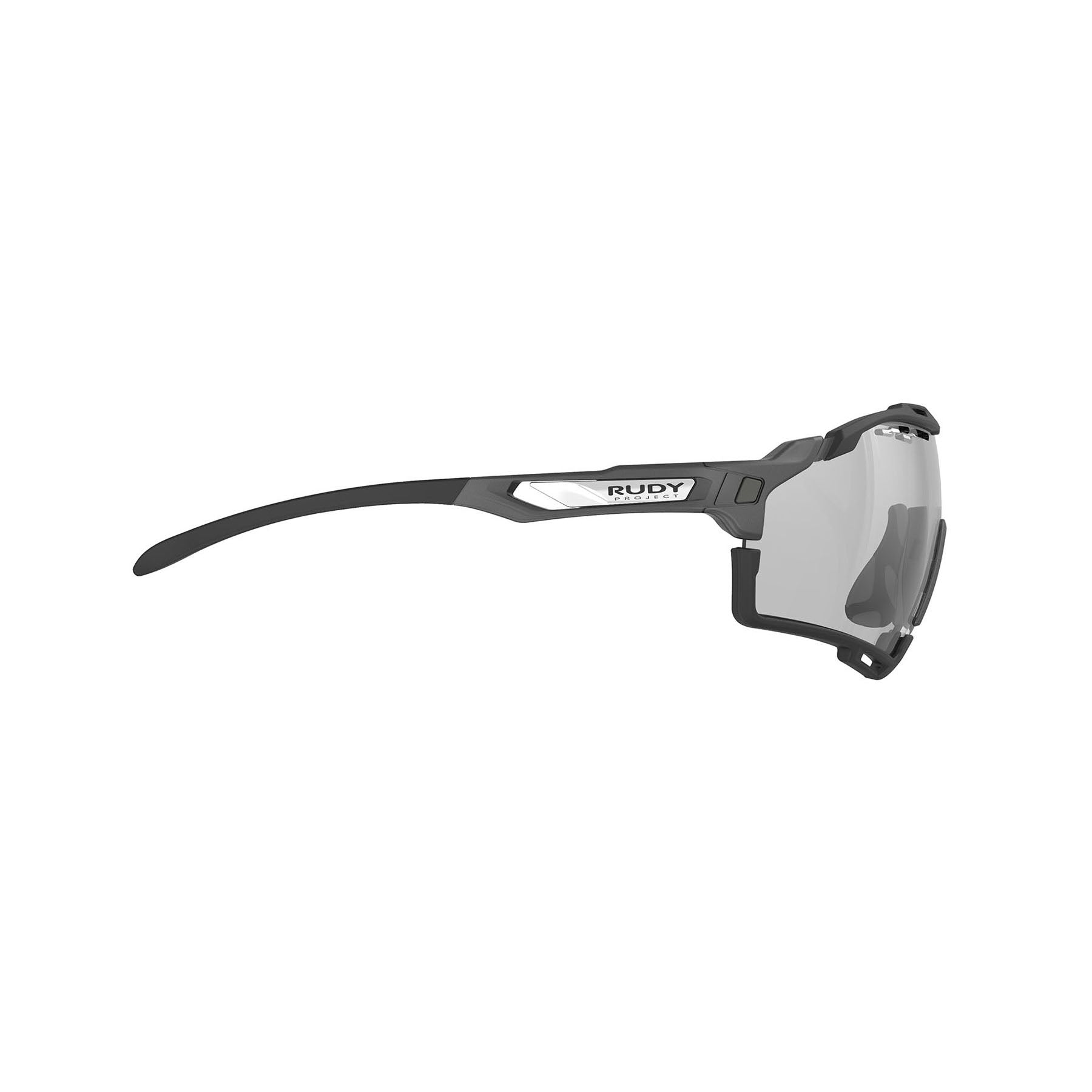 Rudy Project - Cutline - frame color: Graphine Matte - lens color: ImpactX-2 Photochromic Clear to Black - Bumper Color: Black - photo angle: Side Variant Hover Image