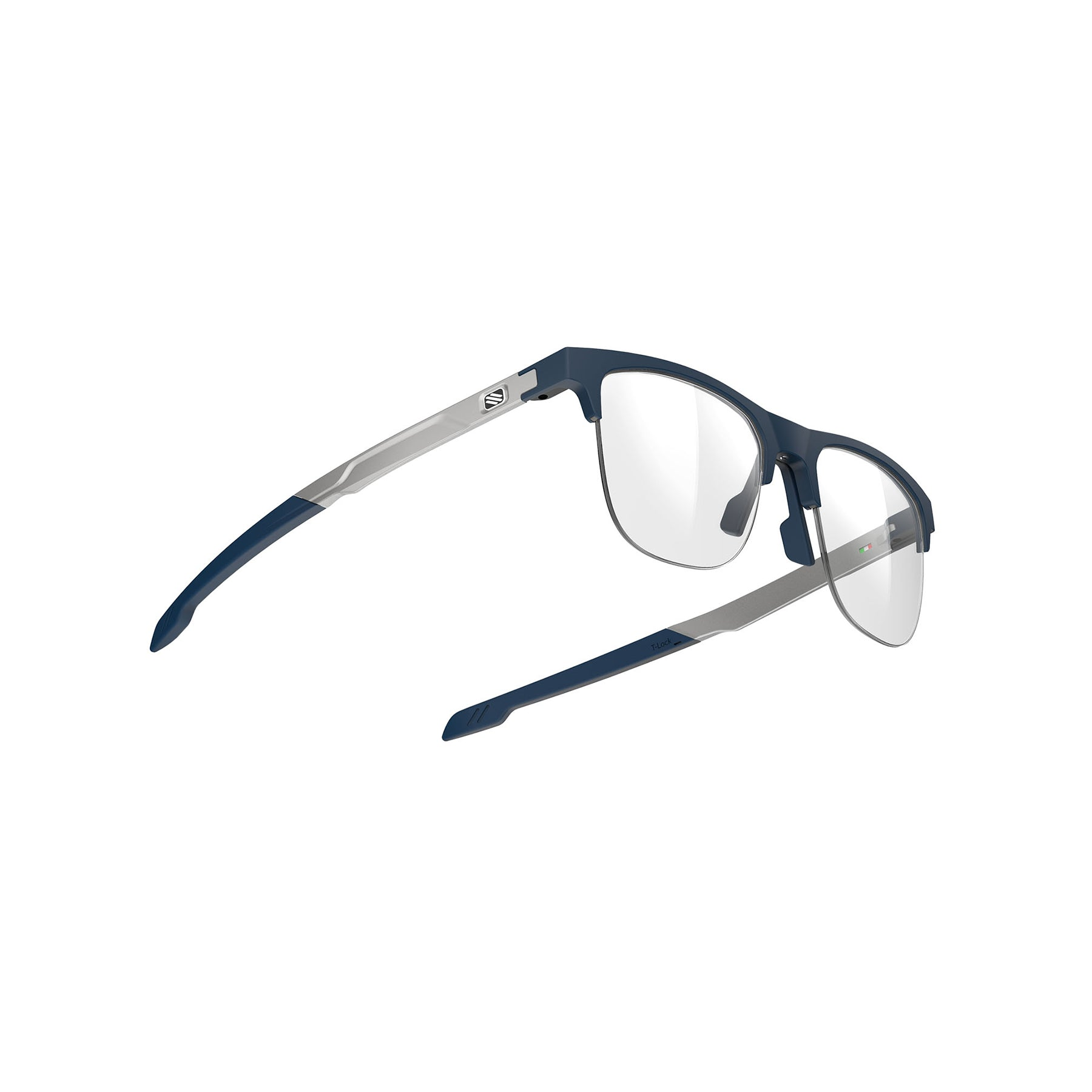 Rudy Project - Inkas XL - frame color: Blue Navy - lens color: Half Rim Shape B - photo angle: Bottom Front Angle Variant Hover Image