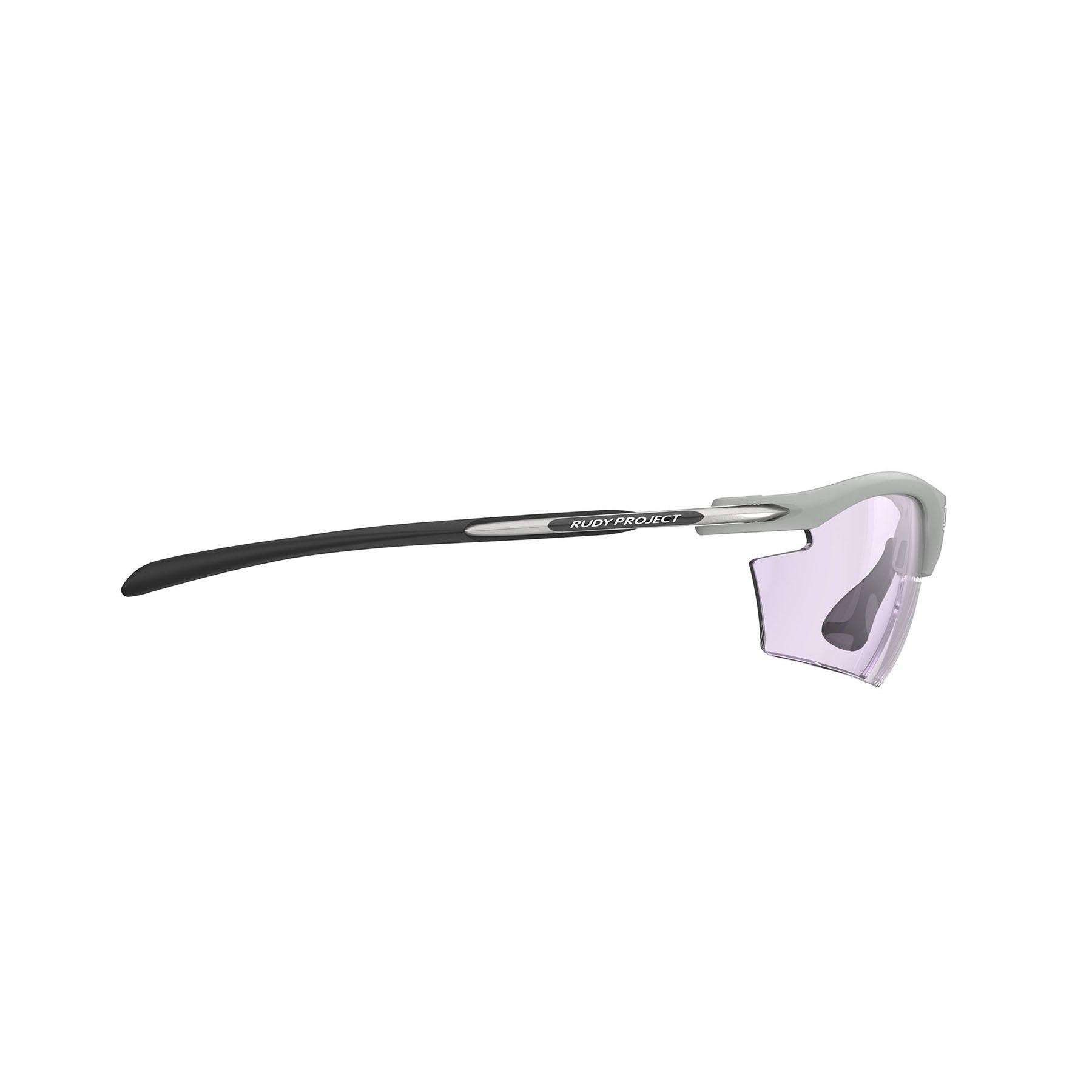 Rudy Project - Rydon Running - frame color: Light Grey - lens color: ImpactX-2 Photochromic Clear to Laser Purple - photo angle: Side Variant Hover Image