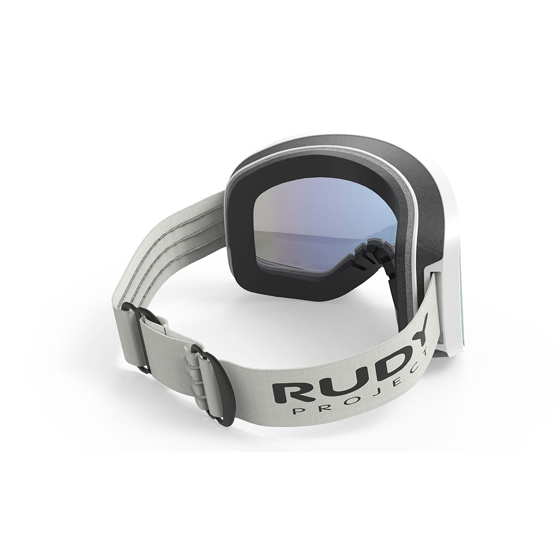 Rudy Project - Skermo - frame color: White Matte - lens color: Multilaser Blue