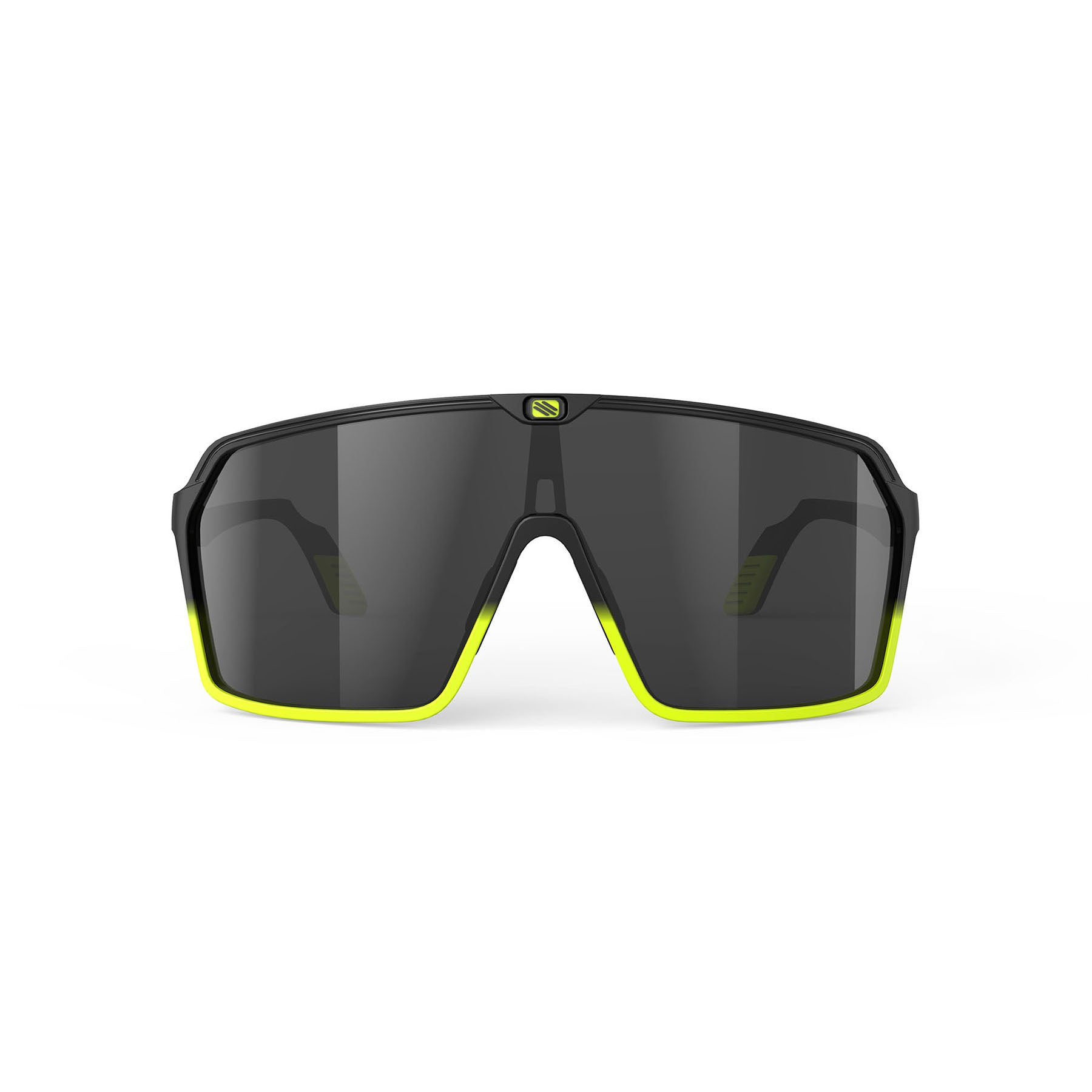 Rudy Project - Spinshield - frame color: Matte Black Yellow Fluo - lens color: Smoke Black - photo angle: Front View Variant Hover Image