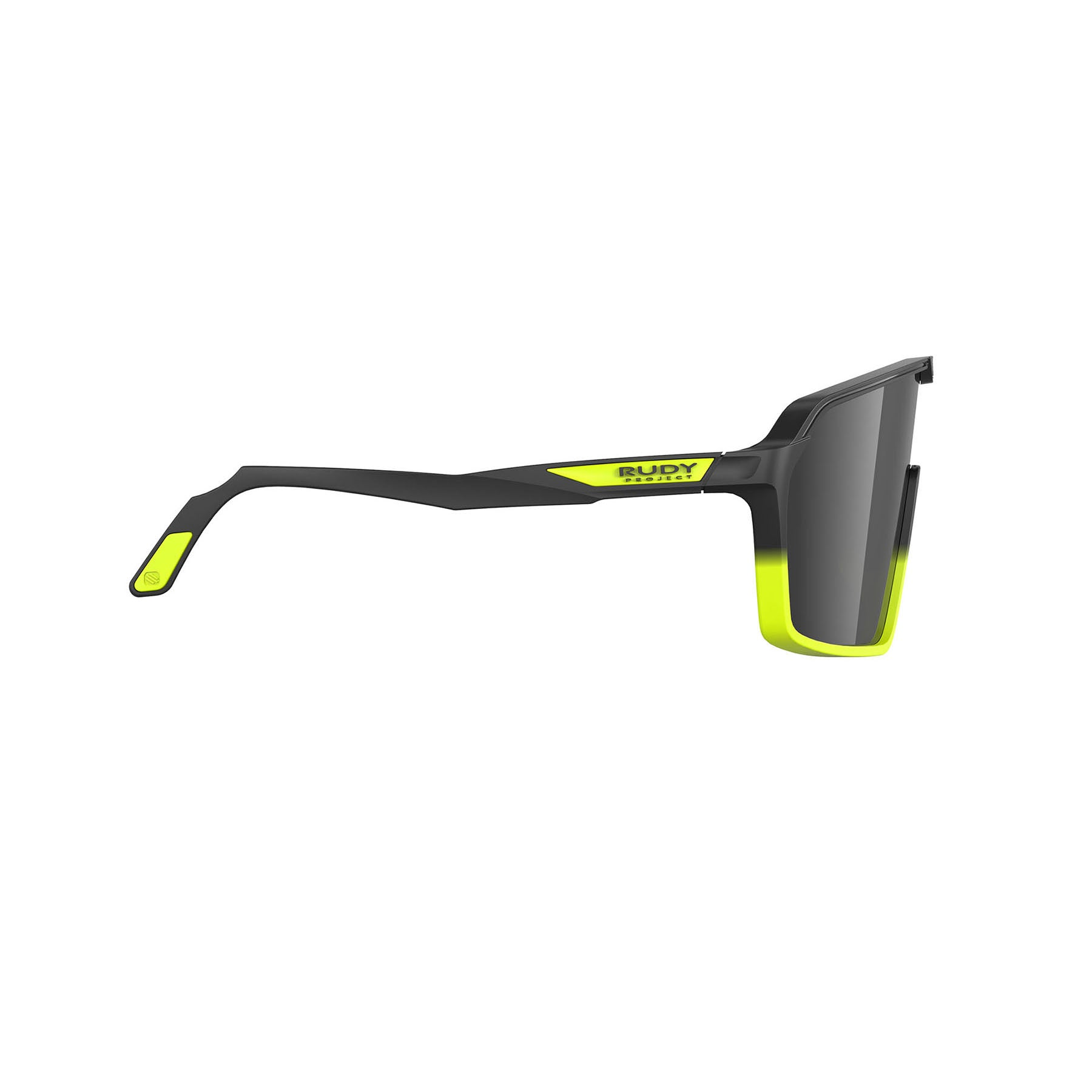 Rudy Project - Spinshield - frame color: Matte Black Yellow Fluo - lens color: Smoke Black - photo angle: Side Variant Hover Image