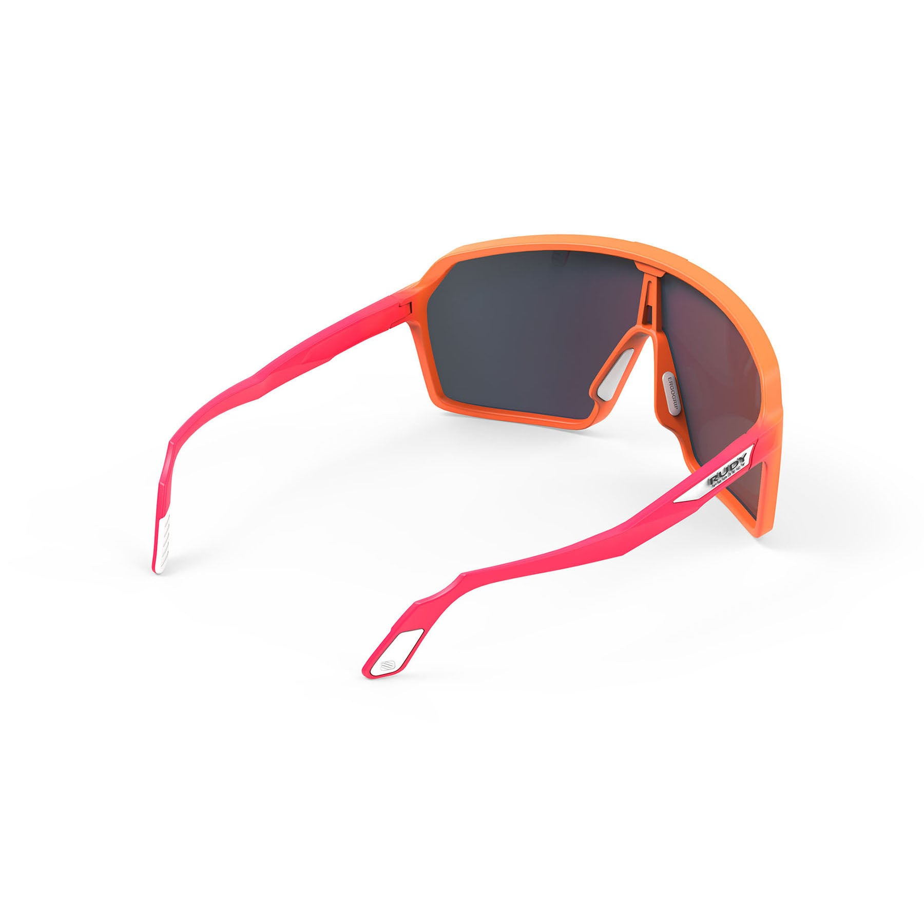 Rudy Project - Spinshield - frame color: Mandarin Fade Coral - lens color: Multilaser Red - photo angle: Top Back Angle Variant Hover Image