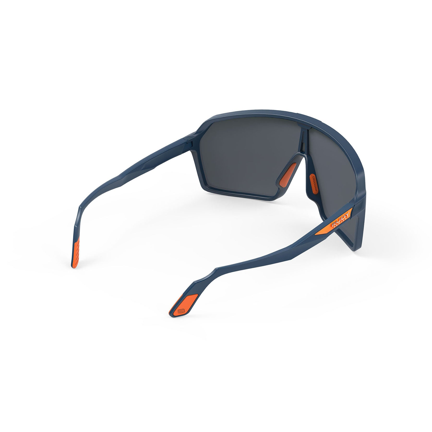 Rudy Project - Spinshield - frame color: Blue Navy Matte - lens color: Multilaser Orange - photo angle: Top Back Angle Variant Hover Image