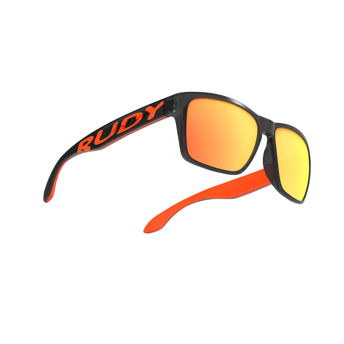 Rudy Project - Spinhawk - frame color: Crystal Ash Orange Fluo - lens color: Multilaser orange - Bumper Color:  - photo angle: Bottom Front Angle Variant Hover Image