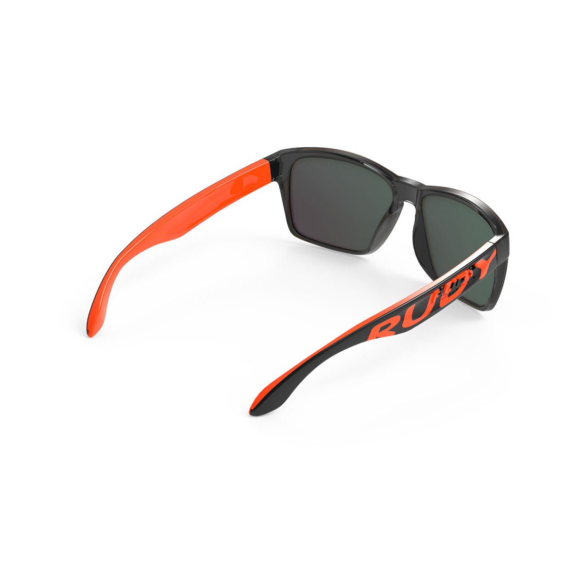 Rudy Project - Spinhawk - frame color: Crystal Ash Orange Fluo - lens color: Multilaser orange - Bumper Color:  - photo angle: Top Back Angle Variant Hover Image
