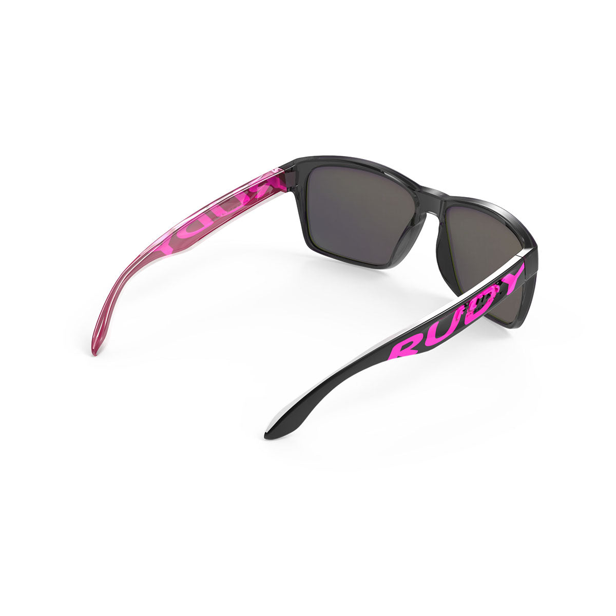 Rudy Project - Spinhawk - frame color: Crystal Ash Pink - lens color: Multilaser Violet - Bumper Color:  - photo angle: Top Back Angle Variant Hover Image