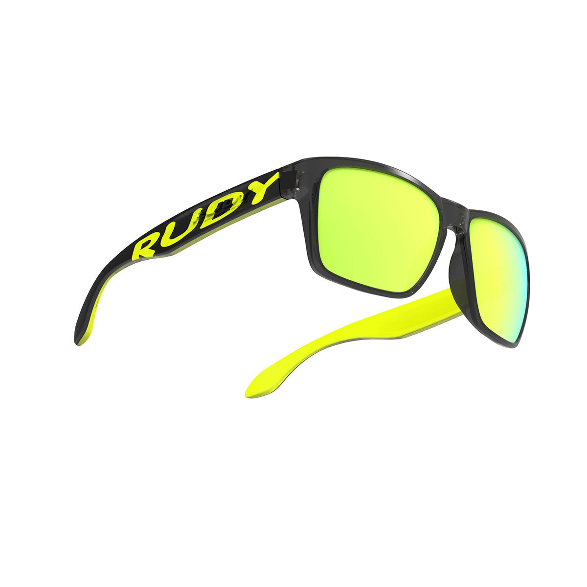 Rudy Project - Spinhawk - frame color: Crystal Ash Yellow - lens color: Multilaser LIme - Bumper Color:  - photo angle: Bottom Front Angle Variant Hover Image
