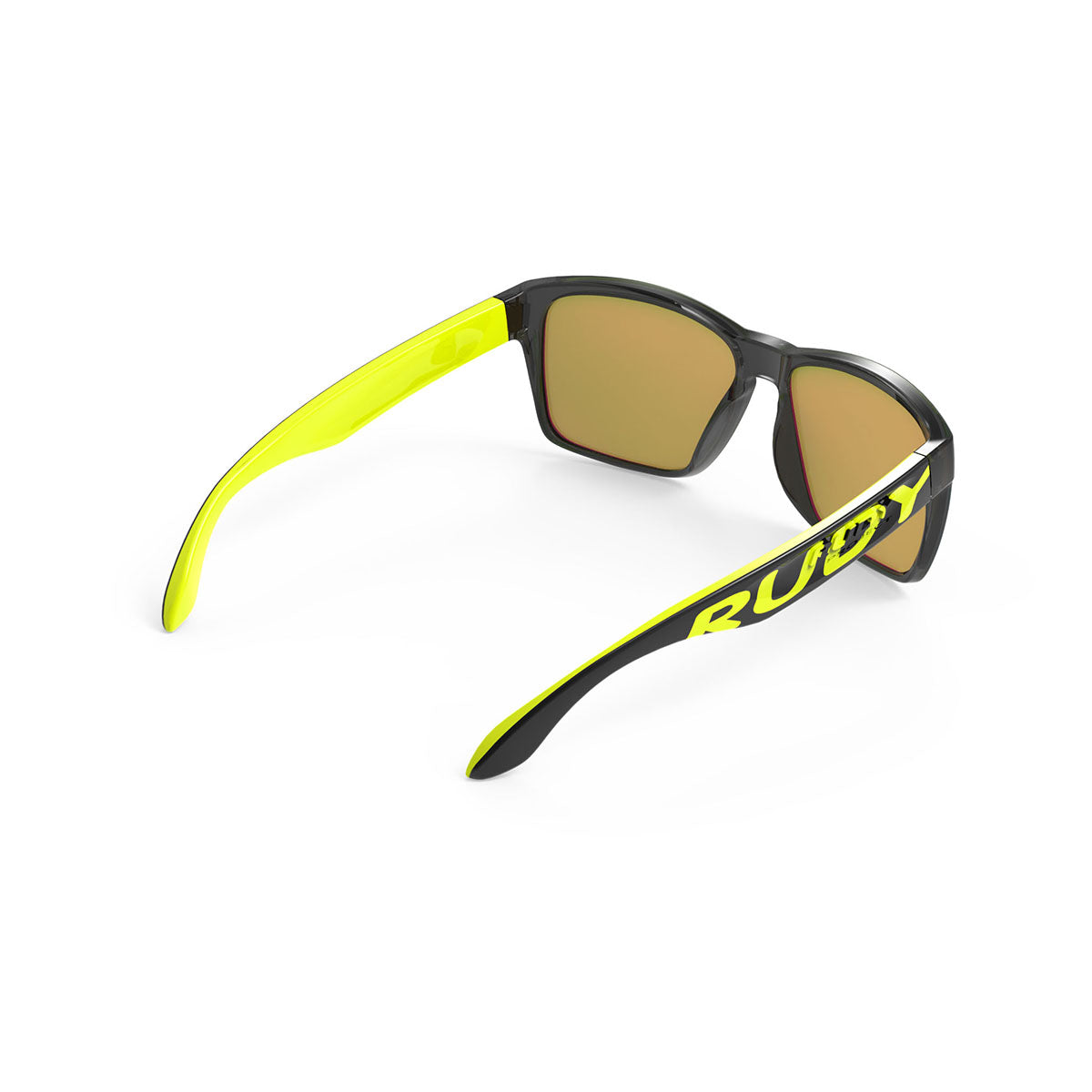 Rudy Project - Spinhawk - frame color: Crystal Ash Yellow - lens color: Multilaser LIme - Bumper Color:  - photo angle: Top Back Angle Variant Hover Image
