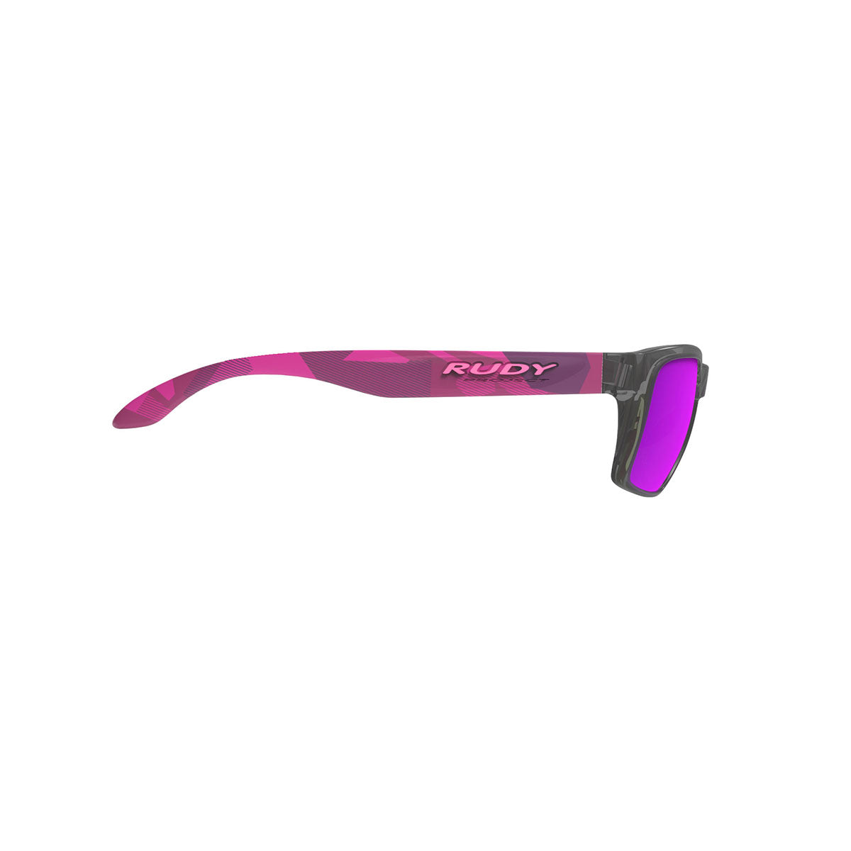 Rudy Project - Spinhawk Slim - frame color: Neo Camo Crystal Wine - lens color: Multilaser Violet - Bumper Color:  - photo angle: Side Variant Hover Image