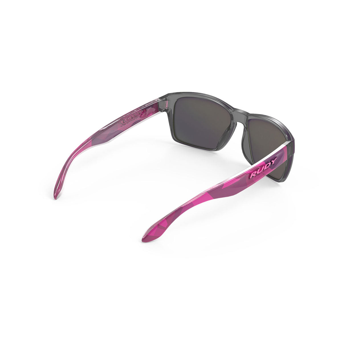 Rudy Project - Spinhawk Slim - frame color: Neo Camo Crystal Wine - lens color: Multilaser Violet - Bumper Color:  - photo angle: Top Back Angle Variant Hover Image