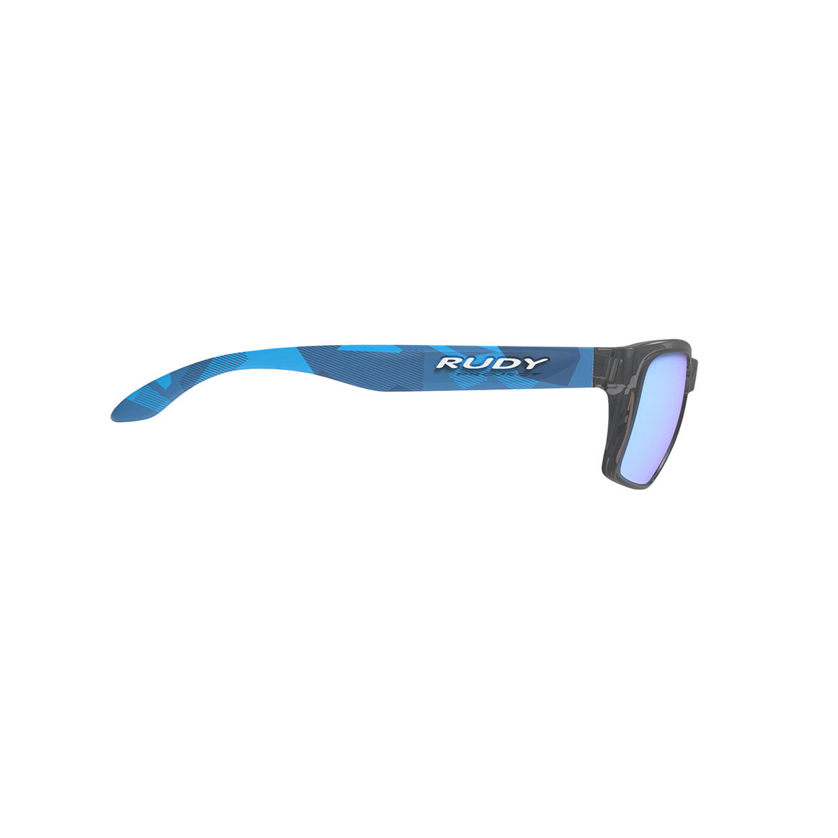 Rudy Project - Spinhawk Slim - frame color: Neo Camo Crystal Blue - lens color: Multilaser Ice - Bumper Color:  - photo angle: Side Variant Hover Image