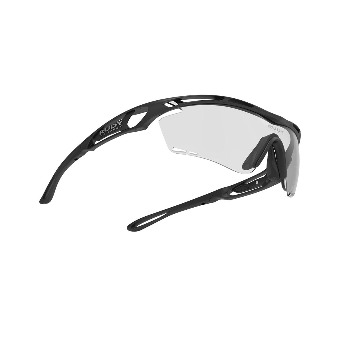Rudy Project - Tralyx - frame color: Matte Black - lens color: ImpactX-2 Photochromic Clear to Black - photo angle: Bottom Front Angle Variant Hover Image