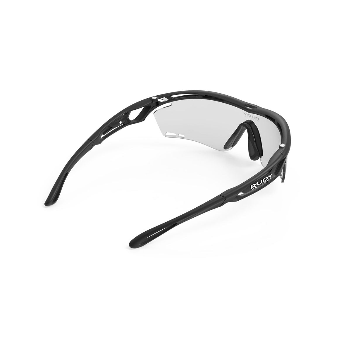 Rudy Project - Tralyx - frame color: Matte Black - lens color: ImpactX-2 Photochromic Clear to Black - photo angle: Top Back Angle Variant Hover Image