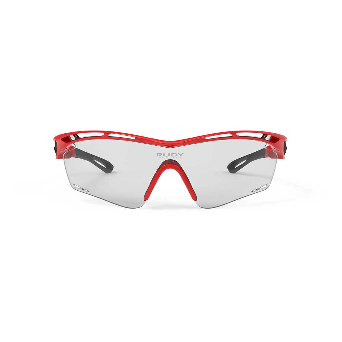 Rudy Project - Tralyx - frame color: Fire Red Gloss - lens color: ImpactX-2 Photochromic Clear to Black - photo angle: Front View Variant Hover Image