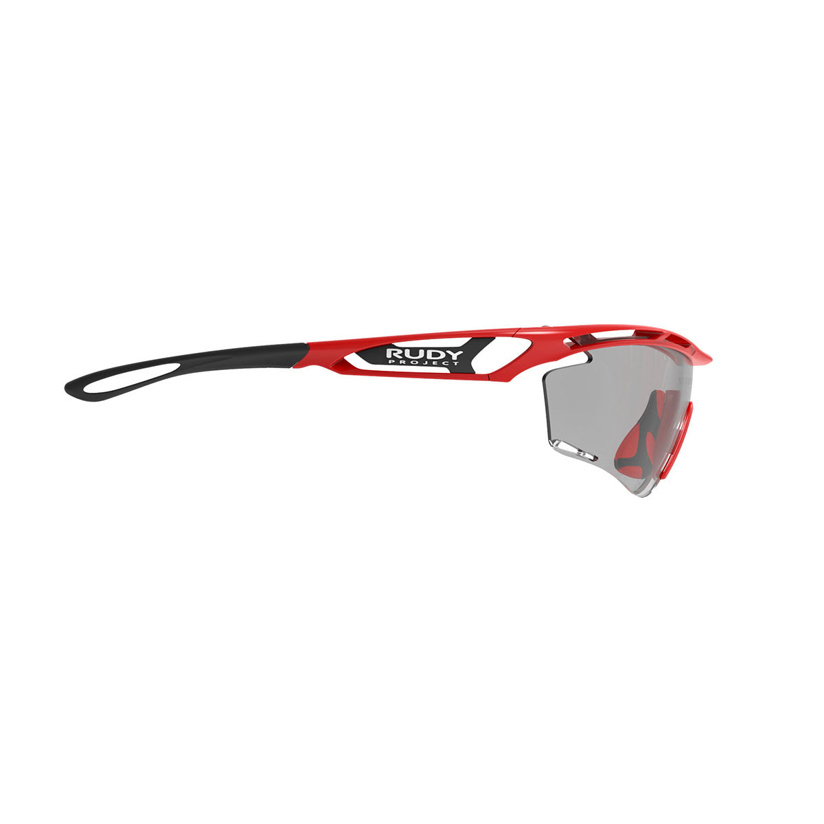 Rudy Project - Tralyx - frame color: Fire Red Gloss - lens color: ImpactX-2 Photochromic Clear to Black - photo angle: Side Variant Hover Image