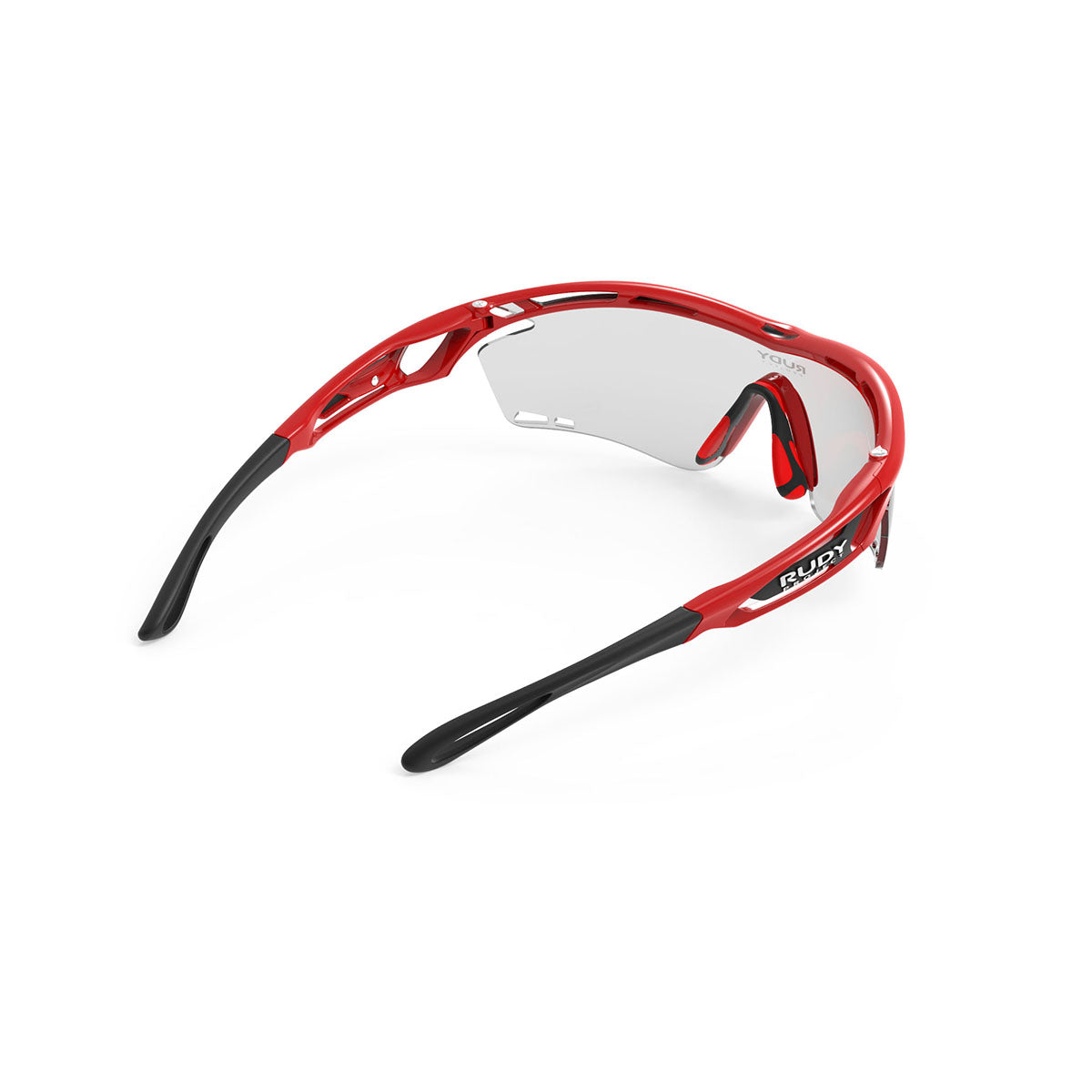 Rudy Project - Tralyx - frame color: Fire Red Gloss - lens color: ImpactX-2 Photochromic Clear to Black - photo angle: Top Back Angle Variant Hover Image
